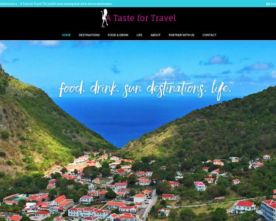A Taste for Travel WordPress Redesign