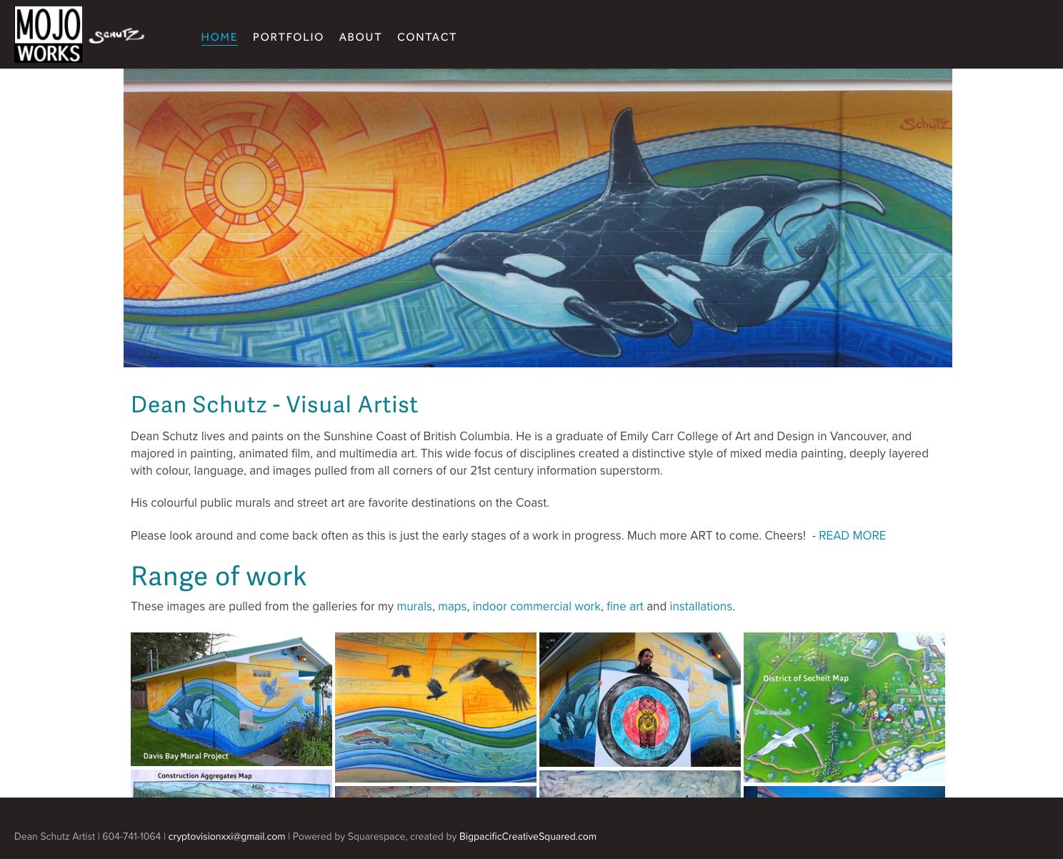 Dean Schutz artist web site